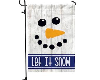 "Let It Snow Garden Flag 12.5""x18"""