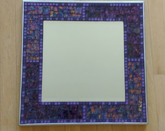 Shades of Purple and Gold Mosaic Mirror