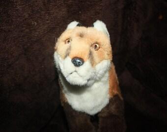 vintage plush fox