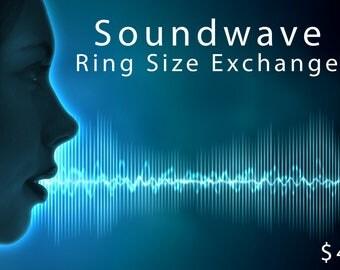 Custom Soundwave Ring Size Exchange