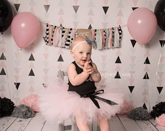 Paris Pink Tutu   1st Birthday Tutu Dress   Baby Birthday Tutu   Cake Smash Tutu   Tutu Skirt   BoHo Tutu   Pink Birthday Tutu