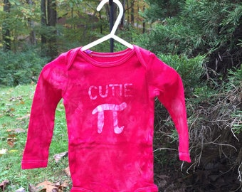 Pi Day Baby Bodysuit, Cutie Pi Bodysuit, Red Pi Day Baby Shirt, Nerdy Baby Gift, Math Baby Gift, Engineering Baby Gift (12 months)