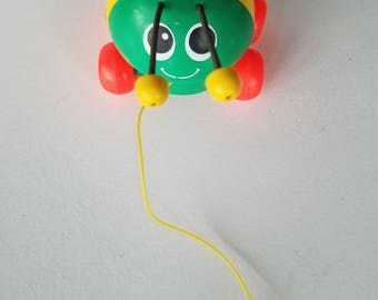 1982 Fisher Price Pull Toy Lady Bug