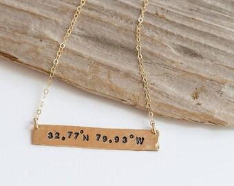 Custom Coordinate Necklace