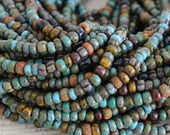 Size 6 Aged Seed Bead Mix - Rustic Seed Beads For Jewelry Making Supply - Color Mix Striped Seed Beads And Tubes - Choose Amount