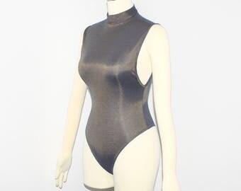 AZZEDINE ALAIA Vintage Metallic Knit Bodysuit- AUTHENTIC -