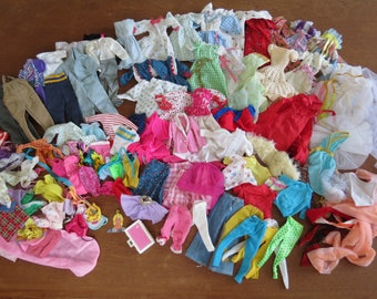Large Lot of Vintage Barbie Doll Clothing - 80+ pieces of commercial and handmade clothing for Barbie Ken Skipper
