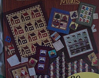 Favorite Foundation Pieced Minis-used quilt book-miniature quilt patterns