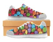 Smarties LED Light Up Shoes | Boys Girls Womens Sizes | High Stretch Upper | EVA + Mesh Fabric Insole | 7 Colors | Bold Street Artist Design