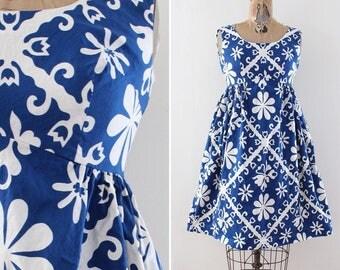 60s Blue Mini Dress Size XS Mod Go Go Twiggy Empire Waist A Line Sleeveless Resort Wear Summer Dress Extra Small 1960s Vintage