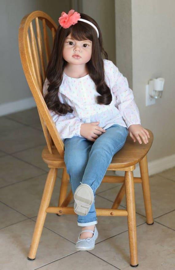 Custom Reborn Toddler Child Size Doll Angelica By Reva