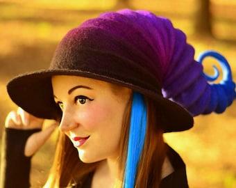 "Costume Hat. ""Galaxy"" Witch Hat. Wizard Hat. Fantasy Hat. Cosplay Hat. LARP."