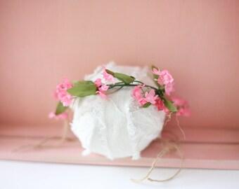 Felicity  -- toddler child adult adjustable flower crown pink greenery boho  organic vine greneery boho headband