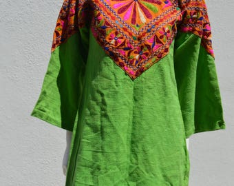 Vintage 70's hippie indian dress RAJ OF INDIA mini dress indian festival cotton handwoven antique textile boho mod dress small