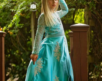 Moonlit Sky... An Exquisite Flower Girl Special Occasion Dress