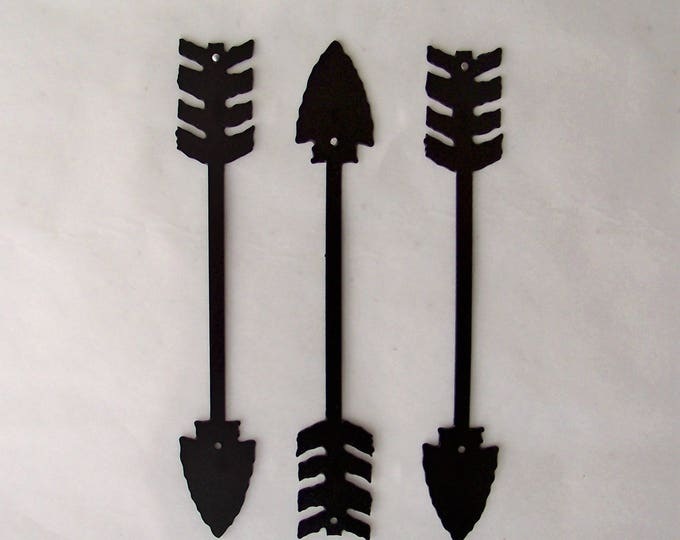 Small Arrow Decor, Metal Art, Wall Decor, Set of Three, Home Decor, American Indian, Metal Arrow Decor, Archery, Several sizes