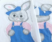 Bunny Rabbit Cut, Sew and Stuff Pillow Project Fabric Panel DIY Sewing Kit