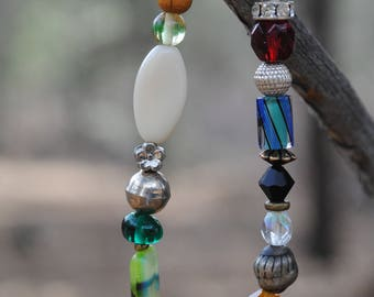 Fun, colorful, beaded stretchy bracelet