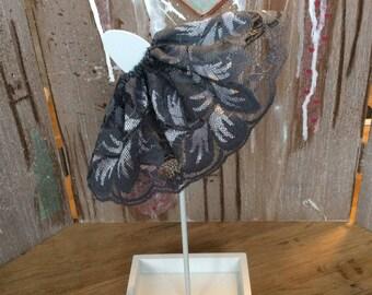 Blythe dark grey/silver lace skirt