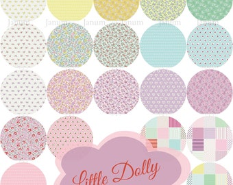 COMPLETE Fat eighth bundle from the Little Dolly collection by Elea Lutz for Penny Rose / Riley Blake Fabrics - 21 pieces