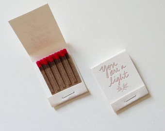 You are a Light Matchbooks - Set of Two