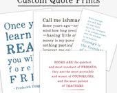Custom Quote Print, personalized gift for friend, custom typography