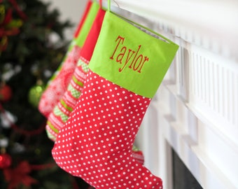 Noel Stocking Monogram Personalize Christmas Holiday