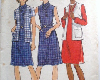 Butterick 3507 - A-Line Dress With Optional Cowl Neckline and Cardigan Sewing Pattern - Size 12, Bust 34