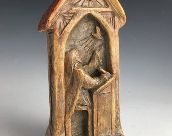 Handmade Statue of St. Teresa of Avila: Professional and Business Women; Praying, Working, Guiding