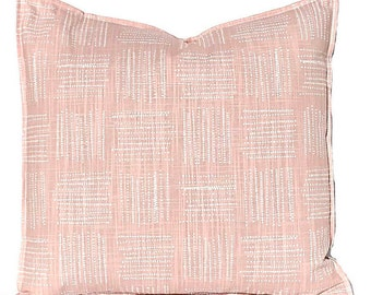 Decorative Pillow Covers - Blush Pink PIllow Cover - Plaid Pillow Cover - Pink Cushion Cover - Blush Bedroom Decor - Sofa Pillow Covers