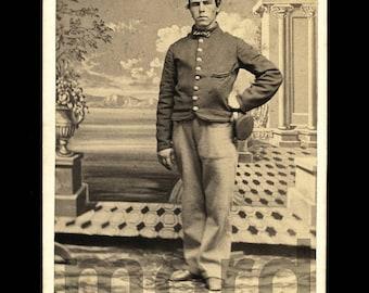 ID'd Civil War Soldier / 1860s CDV Photo / Lexington Kentucky