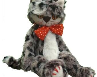 Claude kitten digital soft toy cat sewing pattern in PDF