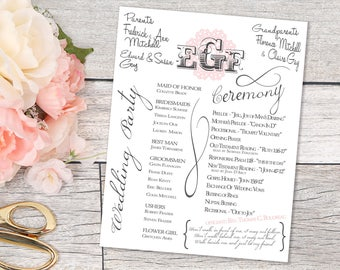printable wedding program wedding programs print your own