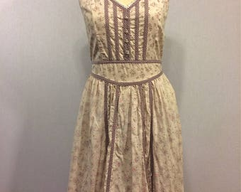 Vintage 70s Gunne Sax Lilac Peasant Dress