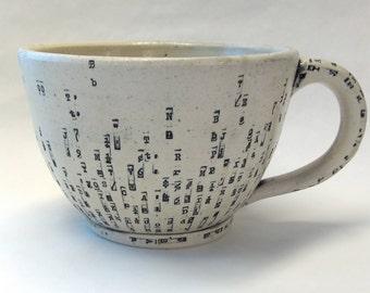 Large Typewriter Key Noodle Mug