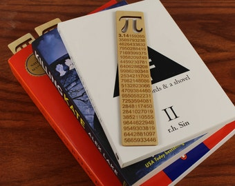 Pi, Wooden Bookmark,  Russian Birch, Laser engraved, Paul Szewc