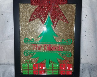 Personalized Christmas Shadow Box