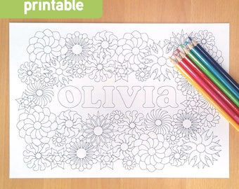 customized colouring page