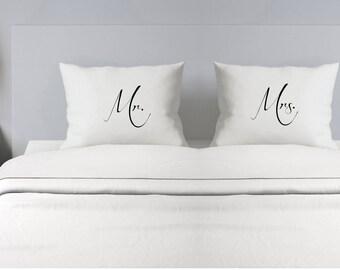 Pillowcase Couples Pillowcase - Custom Pillowcase - Wedding Gift - Personalized Pillowcase - Mr. and Mrs. Pillowcase