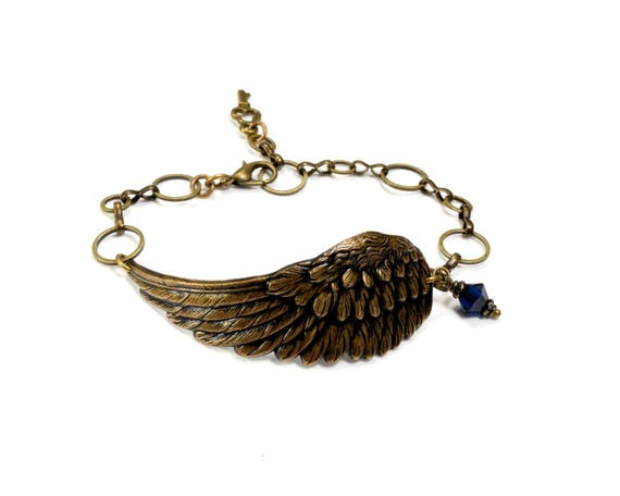 Angel Wing Bracelet Angel Wing Jewelry Remembrance Bracelet Remembrance Jewelry Memorial Jewelry Steampunk Jewelry By Victorian Curiosities