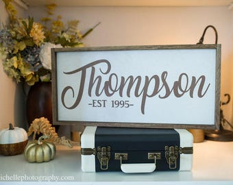 Family Name Sign, Family Established Sign, Last Name Sign, Anniversary Gift Wood Sign, Personalized Sign, Est Sign, Established Date