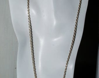 Massive sterling diamond cut rope chain. 24 inches.