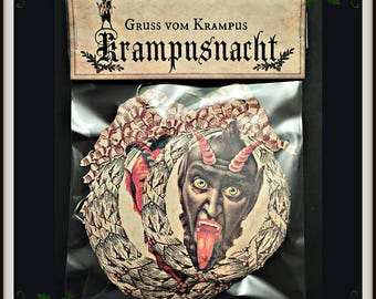 Krampus Holiday Garland Banner