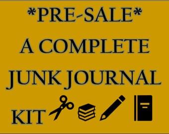 PRE-SALE Vintage Junk Journaling Kit | DIY Junk Journal | Junk Journal Kit | vintage junk journals | vintage junk journal embellishments