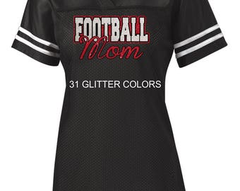 Glitter Football Mom Jersey