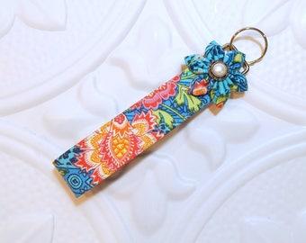 Key Fob - Wristlet Key Fob - Keychain - Wristlet Lanyard -  Blue Print
