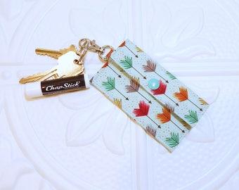 Lip Balm Holder - Chapstick Cozy - Chapstick Holder - Lip Balm Keychain - Chapstick Case - Chapstick Key Chain - Credit Card Holder