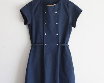Summer dresses for women, chambray dress, cotton dress, denim dress, casual dress, nursing dress. Sustainable clothing, made in Italy