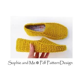 Winter Loafer Crochet Pattern - Slippers - Instant Download Pdf