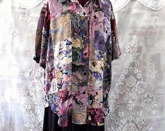 Boho Patchwork Shirt